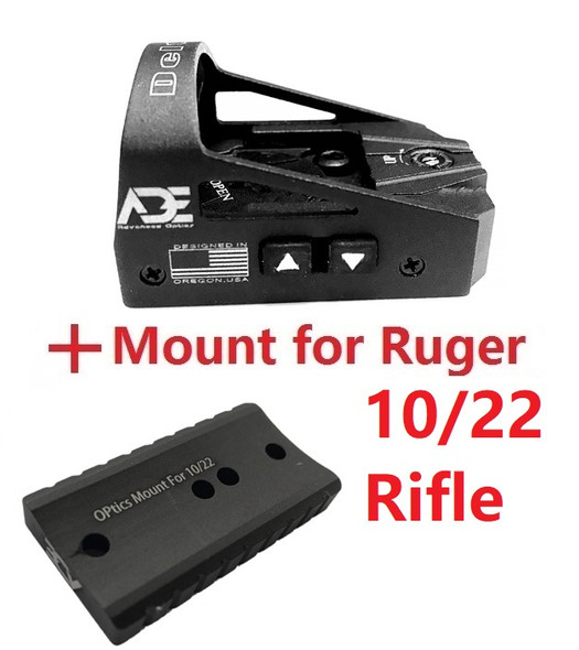 Ade Advanced Optics RD3-012 Delta Red Dot Reflex Sight for Ruger 10/22 Rifle