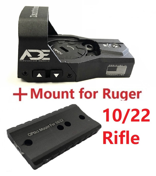 Ade Advanced Optics RD3-015 Zantitium Red Dot Reflex Sight for Ruger 10/22 Rifle