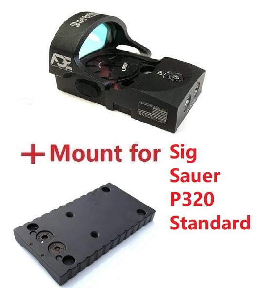 Ade Advanced Optics Bertrillium RD3-013 Red Dot Reflex Sight for Sig Sauer Standard P320 Handgun Pistol