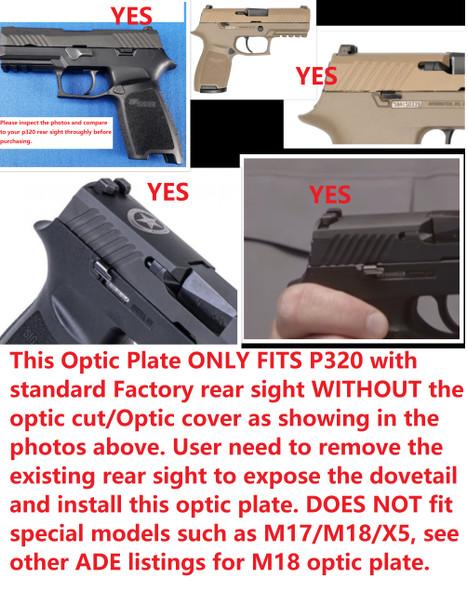 Ade Advanced Optics Zantitium RD3-015 Red Dot Reflex Sight for Sig Sauer Standard P320 Handgun Pistol