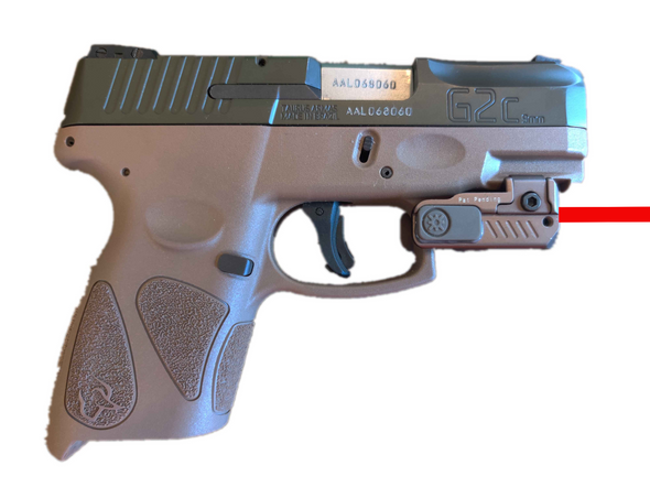 Ade Advanced Optics FDE HR54 Rechargeable SUPER ULTRA COMPACT PISTOL RED LASER SIGHT FOR ALL FULL SIZE AND SUB-COMPACT HANDGUNS