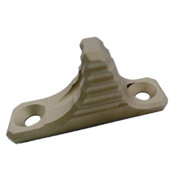 FDE! Flat Dark Earth  HAND STOP Tactical SharkFin MLOK Forend Foregrip for M-LOK System Angled Forward Grip
