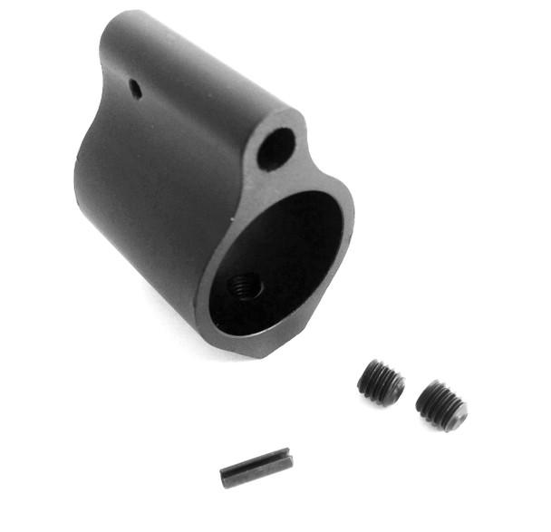 "AR-15 Low Profile Gas Block, 0.750"" Black STEEL"