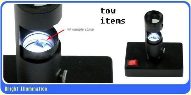 Portable Handheld Polariscope with Desktop Led Light