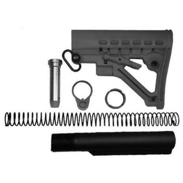 Gen 2! Black MIL SPEC  Buffer Tube Kit & AR15 Stock Buttstock ar 15