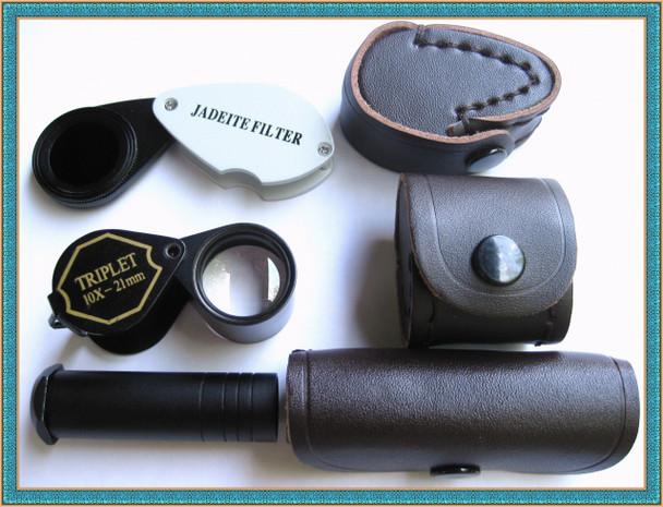 Dichroscope, Chelsea Filter, Jewelers Loupe,  3 bundle