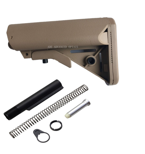GEN 3 Kit! MADE IN USA FDE SOPMOD MIL SPEC STOCK BUTTSTOCK + BUFFER TUBE KIT FLAT DARK EARTH match magpul color