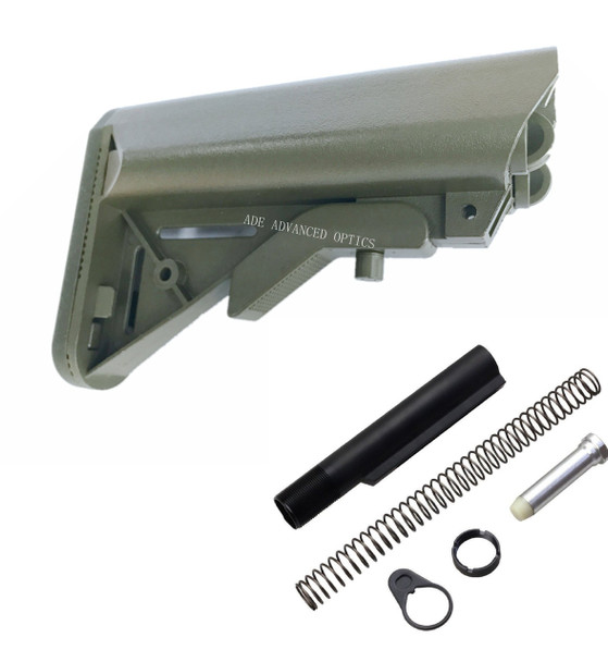 GEN 3 Kit! MADE IN USA OD GREEN SOPMOD MIL SPEC STOCK BUTTSTOCK + BUFFER TUBE KIT ODG Olive Drab