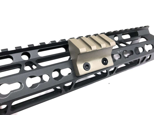 FDE! 45 Deg Offset Picatinny Rail Section for Keymod Handguard Flat Dark Earth