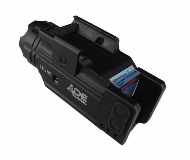 Strobe Green Laser+ 300 Lumen Stobe Flashlight Combo Sight Fits All Full size hand gun, railed sub-compact pistol handgun and rails