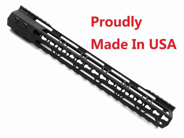 "KEYMOD-MADE IN USA!- ADE PRO 15"" INCH RAIL SUPER SLIM HANDGUARD FREE FLOAT"