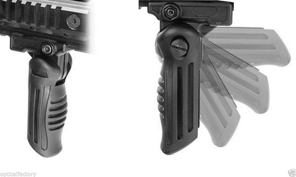 Multi Position Folding Foldable Rifle Foregrip Fits Picatinny/Weaver Rail Grip