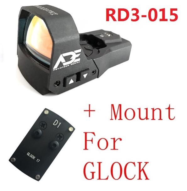 Ade RD3-015 Zantitium RED Dot Reflex Sight for GLOCK 17 19 20 22 26 ect pistols