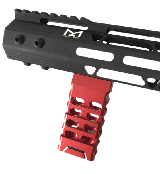 Red! Skeleton Mlok Metal Foregrip Front Grip for M-Lok Handguard Rail