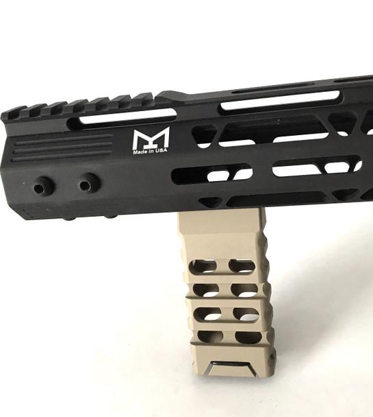 FDE! Skeleton Mlok Metal Foregrip Front Grip for M-Lok Handguard Rail - Flat Dark Earth