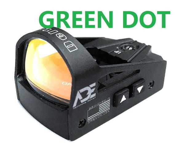 Ade Advanced Optics rd3-012G GREEN Dot Micro Mini Reflex Sight for Handgun and Glock MOS