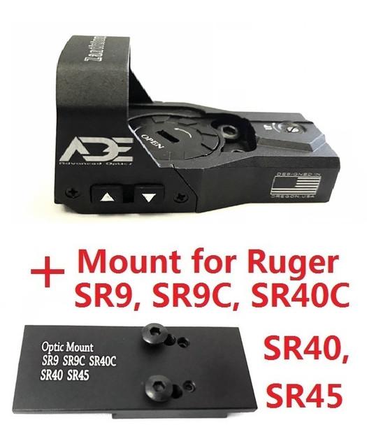 Ade Advanced Optics Zantitium RD3-015 Red Dot Reflex Sight for Ruger SR9,SR9C,SR40C,SR40,SR45 Pistol