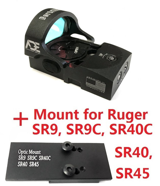 Ade Advanced Optics Bertrillium RD3-013 Red Dot Reflex Sight for Ruger SR9,SR9C,SR40C,SR40,SR45 Pistol
