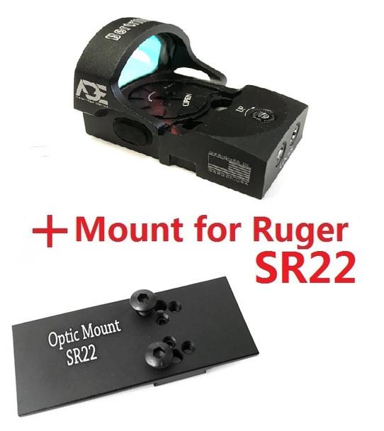 Ade Advanced Optics Bertrillium RD3-013 Red Dot Reflex Sight for Ruger SR22 Pistol …