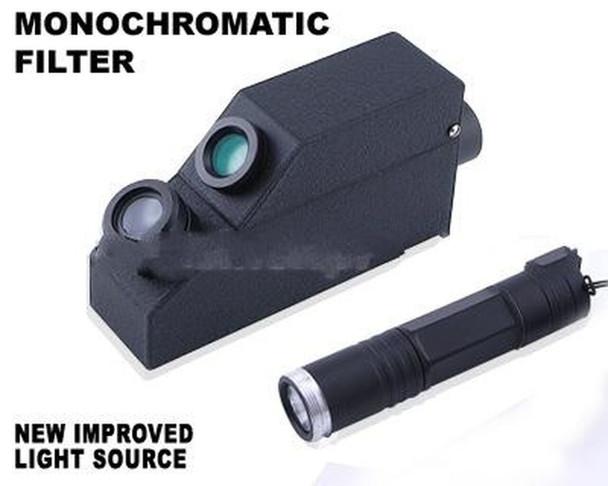 External Monochromatic Yellow Light Gem Refractometer
