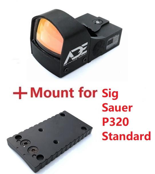 Ade Advanced Optics Crusader RD3-009 Red Dot Reflex Sight for Sig Sauer Standard P320 Handgun Pistol