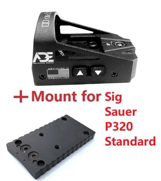 Ade Advanced Optics Delta RD3-012 Red Dot Reflex Sight for Sig Sauer Standard P320 Handgun Pistol