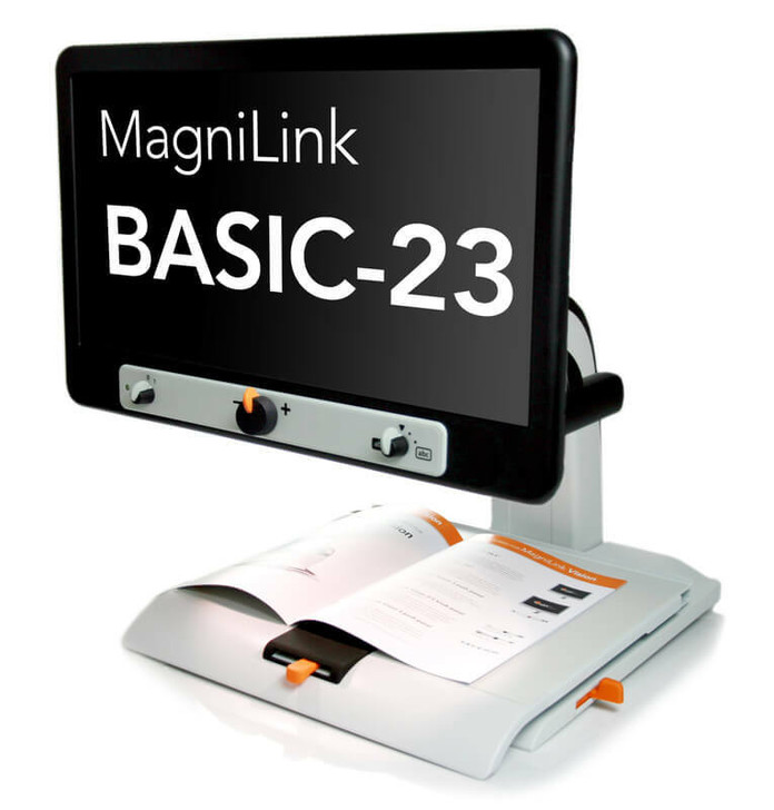 """MagniLink Vision with Full HD 1080p Camera, integrated XY table and 23"""" Monitor with 5-push panel"""