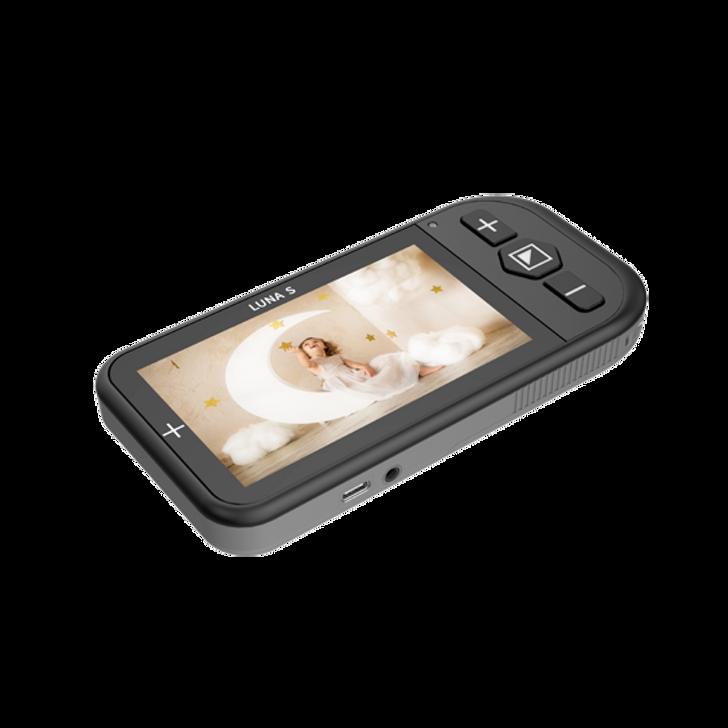 Zoomax Luna S handheld video magnifier.