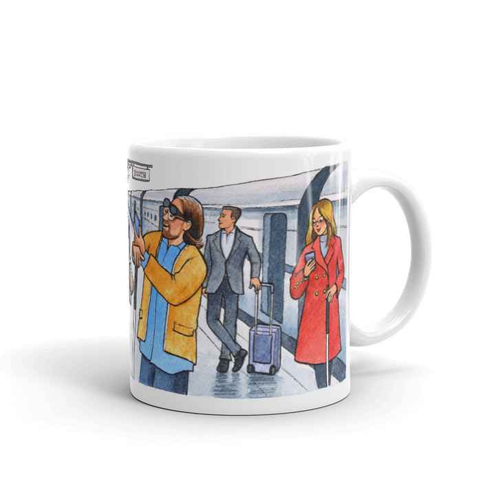 Almost Blind Rail Station Coffee Mug