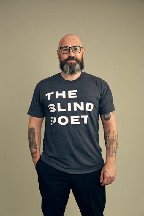 The Blind Poet T-Shirt - Heather Black (Unisex)