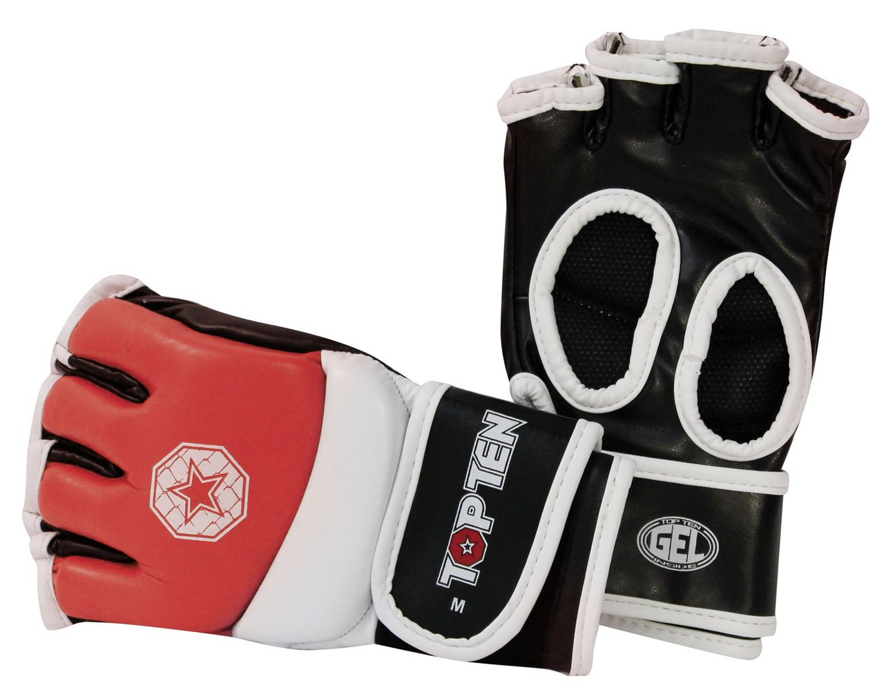 57f6057962a9 TOP TEN MMA Amateur Competition Gloves Red (23301-4) - Kicksport