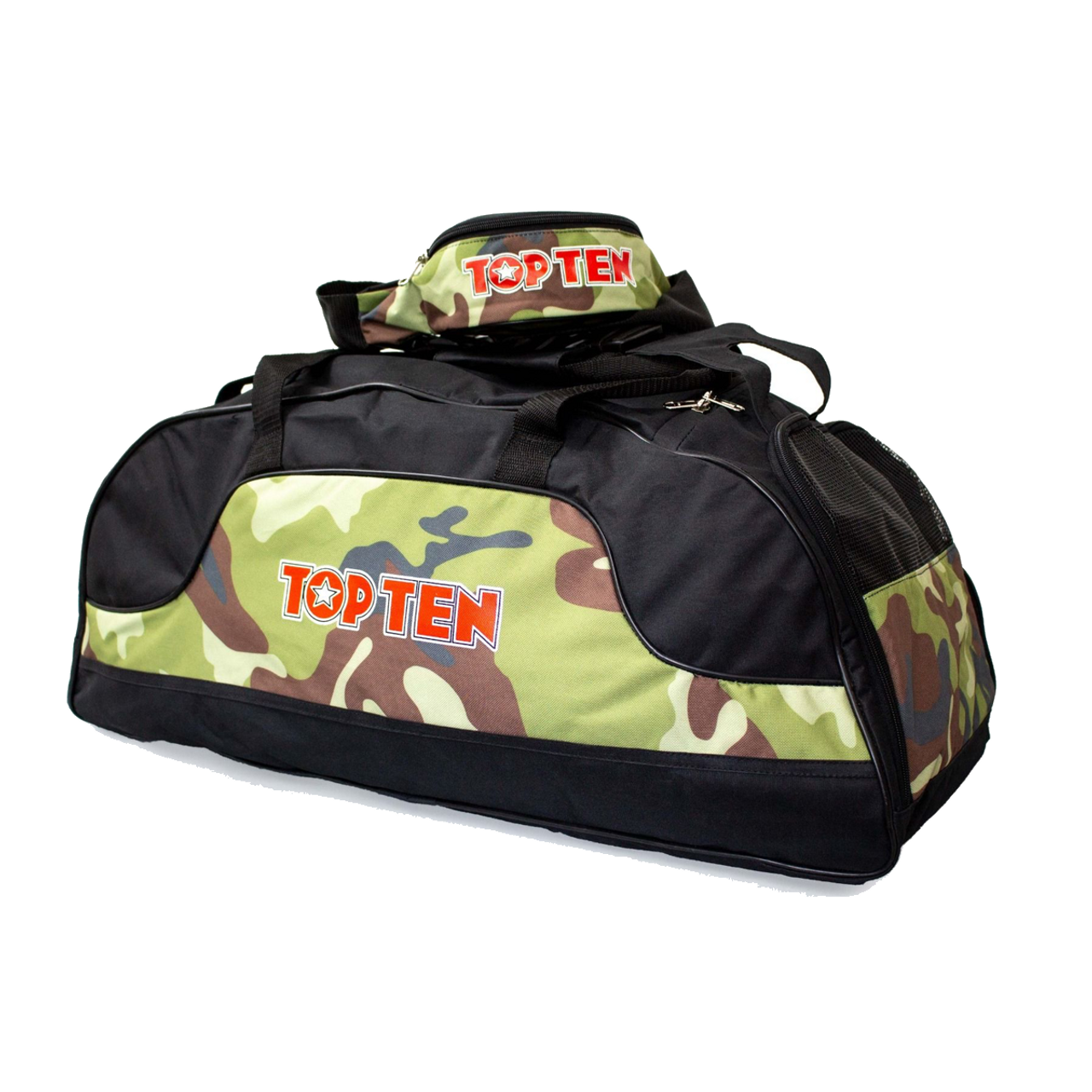 230069606e6f TOP TEN Sports Bag CAMO BLACK Large - Kicksport