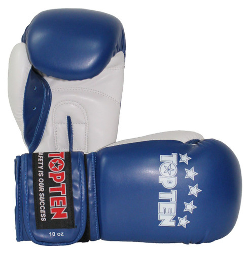 "TOP TEN Boxing/Sparring Gloves ""NKII"" Blue (2269-6)"