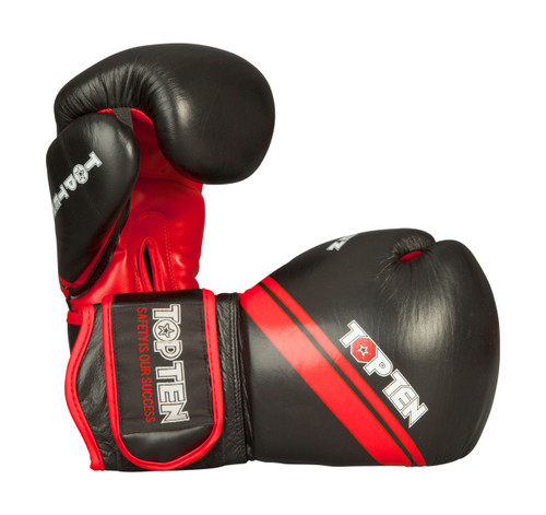 "TOP TEN Boxing Gloves ""Thai Style"" Black/Red (20191-94)"
