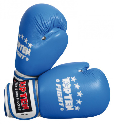 Top Ten Fight Boxing Gloves 10oz Blue