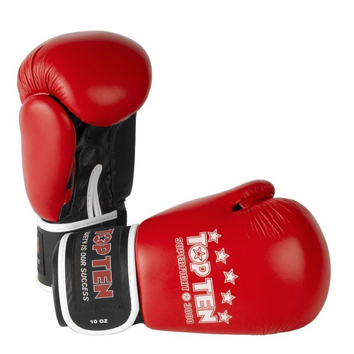 TOP TEN Superfight 3000 Boxing Gloves Red 10oz