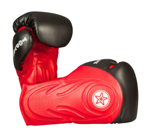 "TOP TEN Boxing/Sparring Gloves ""Hero"" Black/Red (2263-49)"