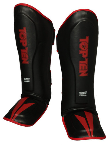 "TOP TEN Shin/Instep Protector ""Triangle II"" Black/Red (32191-94)"