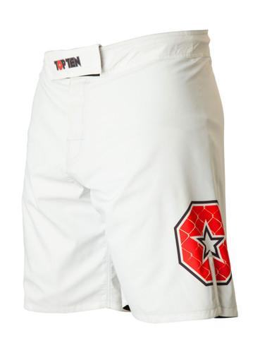 "TOP TEN MMA shorts ""Triangle"" - White/Black (18741-19)"