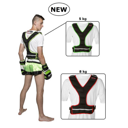 TOP TEN Weighted Training Vests - 8kg & 5 kg - (824)