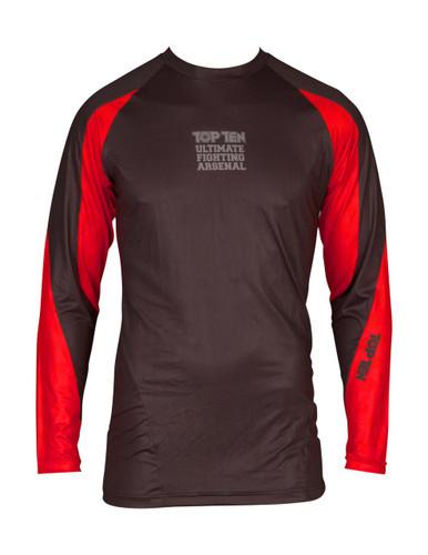 "TOP TEN MMA Rash Guard ""UFA"" Black/Red (14111-97)"
