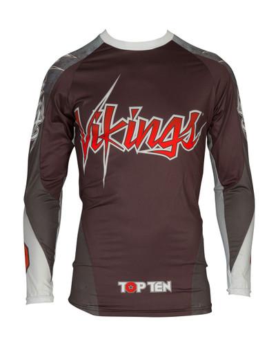 "TOP TEN MMA Rash Guard ""Vikings"" Black (14131-9)"
