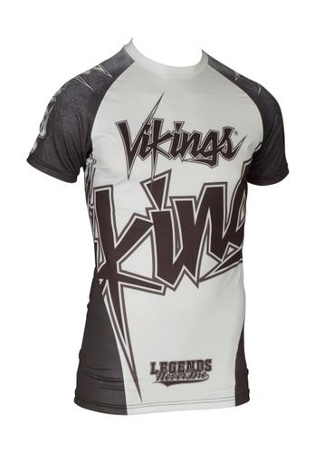 """TOP TEN MMA Short Sleeve Rash Guard """"Vikings"""" (14132-1)"""