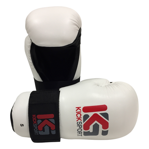 "Kicksport Point Fighter Gloves ""Fight"" - White Adult"