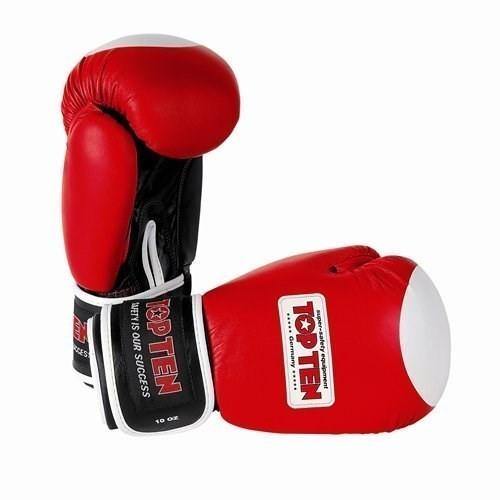 """TOP TEN Boxing Gloves """"WAKO"""" Red (2011-4010)"""