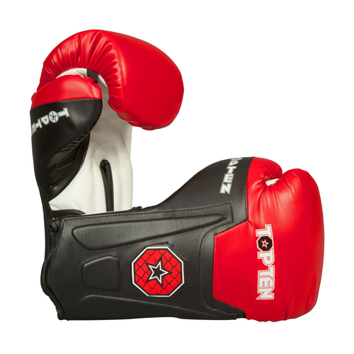 "TOP TEN Boxing/Sparring Gloves ""Line"" Black/Red (2262-94)"