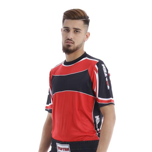 "TOP TEN T-shirt ""Lycra"" Fight Top - Red/Black (1614-94)"