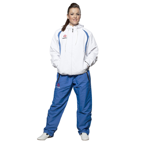 HAYASHI Fitness Suit Premium - ADULT - White/Blue (887-4)
