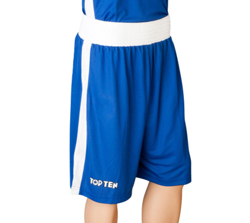 TOP TEN Boxing Shorts 'AIBA' - Blue (1830-6)
