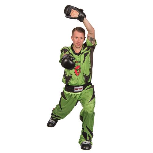 "TOP TEN Kickboxing Uniform ""FUTURE"" - Green/Black ADULT"